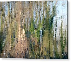 Acrylic Print featuring the photograph Reflet Rhodanien Pastel 1 by Marc Philippe Joly