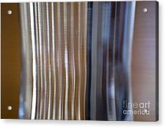 Refraction In Glass Acrylic Print