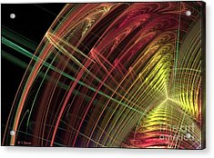 Refraction Acrylic Print by Sandra Bauser Digital Art