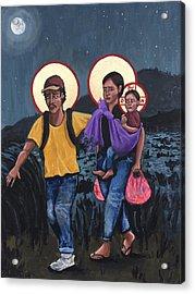 Refugees La Sagrada Familia Acrylic Print by Kelly Latimore