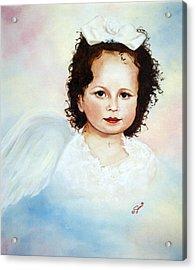 Regal Angel Acrylic Print by Joni McPherson