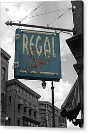 Regal Cafe Acrylic Print by Audrey Venute
