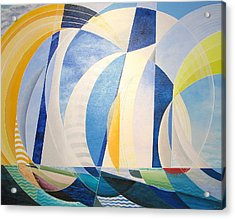 Acrylic Print featuring the painting Regatta by Douglas Pike
