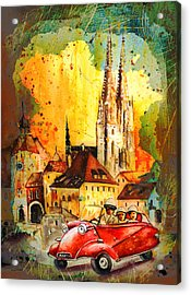 Regensburg Authentic Madness Acrylic Print by Miki De Goodaboom