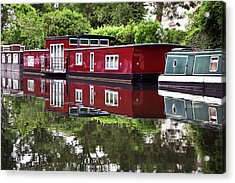 Regent Houseboats Acrylic Print by Keith Armstrong
