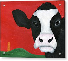 Regina The Happy Cow Acrylic Print by Kristi L Randall