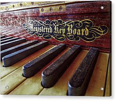 Acrylic Print featuring the photograph Registered Key Board by Linda Unger