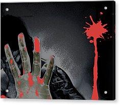 Regret Acrylic Print by Oscar  Servin