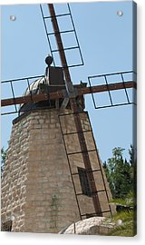 Rehavia Windmill Acrylic Print by Susan Heller