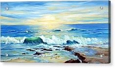 Rehoboth Beach Surf Acrylic Print