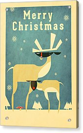 Reindeer Acrylic Print by Daviz Industries