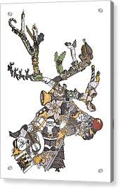 Reindeer Games Acrylic Print