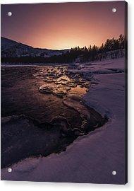 Reisadalen Sunrise Acrylic Print by Tor-Ivar Naess