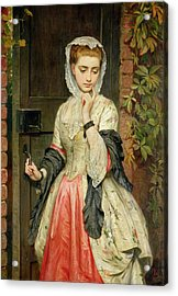 Rejected Addresses Acrylic Print by Charles Sillem Lidderdale