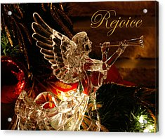 Rejoice Crystal Angel Acrylic Print by Denise Beverly