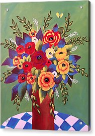 Acrylic Print featuring the painting Rejoice by Jan Oliver-Schultz