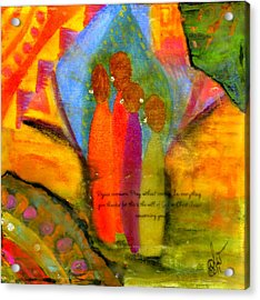 Rejoice Some More Acrylic Print by Angela L Walker