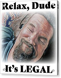 Acrylic Print featuring the painting Relax, Dude by Tom Roderick