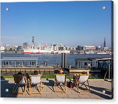 Relax On The Elbe Acrylic Print