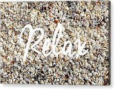 Relax Seashell Background Acrylic Print