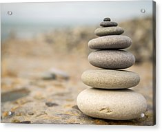 Acrylic Print featuring the photograph Relaxation Stones by John Williams
