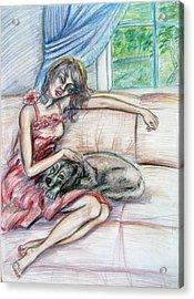 Relaxation  Acrylic Print by Yelena Rubin
