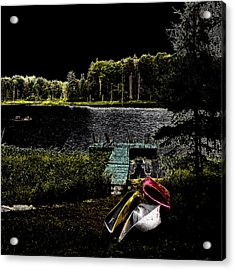 Acrylic Print featuring the photograph Relaxing By Moonlight by David Patterson