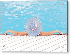 Relaxing Acrylic Print by Happy Home Artistry
