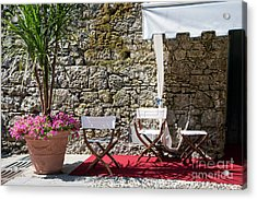 Relaxing In Portofino Italy Acrylic Print by Brenda Kean