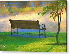 Relaxing Morning Country Scene Acrylic Print by Dan Sproul