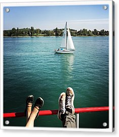 Relaxing Summer Boat Trip Acrylic Print