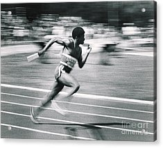 Relay Runner Acrylic Print by Jim Wright