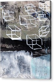 Released- Abstract Art Acrylic Print by Linda Woods