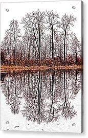 Relections On A Lagoon Acrylic Print