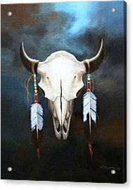 Relic Of The Plains Acrylic Print by Brooke Lyman