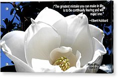 Relief 2, With Quote.  Acrylic Print