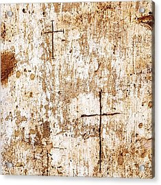 Religious Graffiti On The Wall Of The Acrylic Print