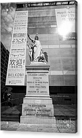 religious liberty centennial anniversary statue outside National museum of american jewish history P Acrylic Print
