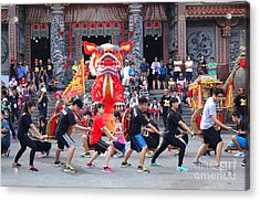 Acrylic Print featuring the photograph Religious Martial Arts Performance In Taiwan by Yali Shi
