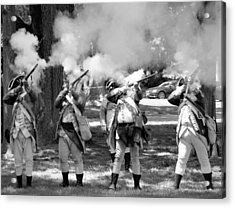 Reliving History-bw Acrylic Print