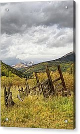 Remains Of A Corral Acrylic Print