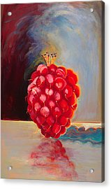 Remarkable Raspberry Acrylic Print by Diane Woods