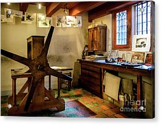 Acrylic Print featuring the photograph Rembrandt's Former Graphic Workshop In Amsterdam by RicardMN Photography