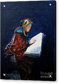 Rembrandts Prophetess Ana Acrylic Print by Pauline Ross