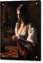 Rembrants Daughter Acrylic Print by Tony Slez