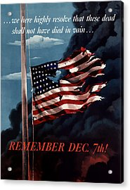 Remember December Seventh Acrylic Print