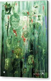 Acrylic Print featuring the painting Remembering Kerouac by Roberto Prusso