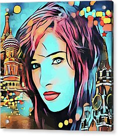 Remembering Moscow Russia Abstract Travel Vacation Art Acrylic Print