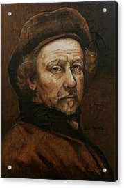 Acrylic Print featuring the painting Remembering Rembrandt by Al  Molina