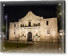 Remembering The Alamo Acrylic Print by Stephen Stookey